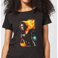 Captain Marvel Galactic Shine Women's T-Shirt - Black - 4XL - Black