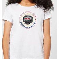Captain Marvel Pager Women's T-Shirt - White - S - White