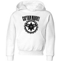 Captain Marvel Logo Kids' Hoodie - White - 11-12 Years - White