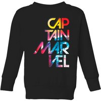 Captain Marvel Galactic Text Kids' Sweatshirt - Black - 7-8 Years - Black