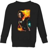 Captain Marvel Galactic Shine Kids' Sweatshirt - Black - 5-6 Years - Black