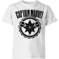 Captain Marvel Logo Kids' T-Shirt - White - 3-4 Years - White