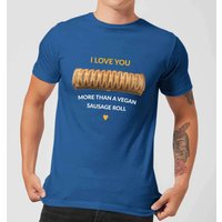 I Love You More Than A Vegan Sausage Roll Men's T-Shirt - Royal Blue - M - royal blue