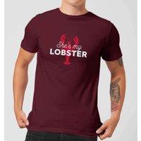 She's My Lobster Men's T-Shirt - Burgundy - XS - Burgundy