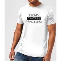 World's Okayest Girlfriend Men's T-Shirt - White - S - White