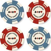Poker Chips Coaster Set - Poker Gifts