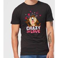 Looney Tunes Crazy In Love Taz Men's T-Shirt - Black - M - Black
