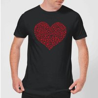 Super Mario Items Heart Mens T-Shirt - Black - 3XL
