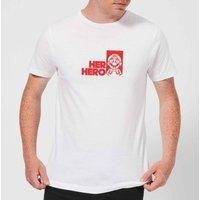 Super Mario Her Hero Men's T-Shirt - White - 5XL - White