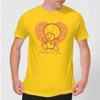 Super Mario Toadally In Love Men's T-Shirt - Yellow - XS - Yellow