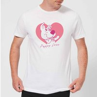 Scooby Doo Puppy Love Men's T-Shirt - White - 3XL - White