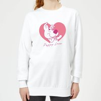 Scooby Doo Puppy Love Women's Sweatshirt - White - XXL - White
