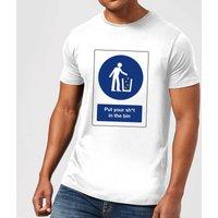 Put Your Sh*t In The Bin Men's T-Shirt - White - XS - White