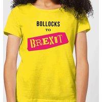 Bollocks To Brexit Women's T-Shirt - Yellow - L - Yellow