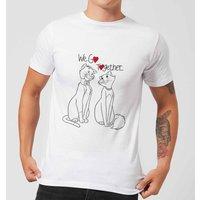 Disney Aristocats We Go Together Men's T-Shirt - White - XL - White