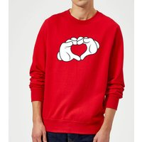 Disney Mickey Heart Hands Sweatshirt - Red - XL - Red
