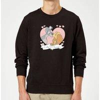 Disney Lady And The Tramp Love Sweatshirt - Black - S - Black
