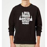 The Flintstones Loyal Order Of Water Buffalo Member Sweatshirt - Black - S - Schwarz