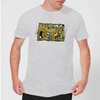The Flintstones Vintage Mens T-Shirt - Grey - S - Grey