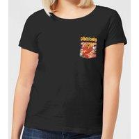 The Flintstones Pocket Pattern Women's T-Shirt - Black - 4XL - Black