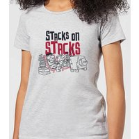 The Flintstones Stacks On Stacks Women's T-Shirt - Grey - 3XL - Grey
