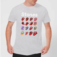 Rolling Stones No Filter Tongue Evolution Men's T-Shirt - Grey - XL - Grey