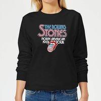 Rolling Stones 81 Tour Logo Women's Sweatshirt - Black - S - Black