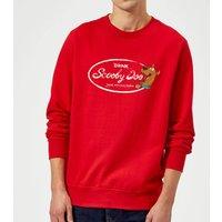 Scooby Doo Cola Sweatshirt - Red - M - Red