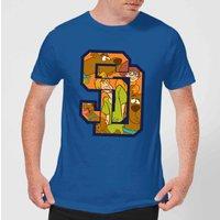 Scooby Doo Collegiate Men's T-Shirt - Royal Blue - M