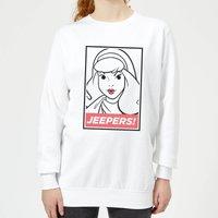 Scooby Doo Jeepers! Women's Sweatshirt - White - L - White