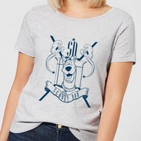 Scooby Doo Coat Of Arms Womens T-Shirt - Grey - XXL - Grey