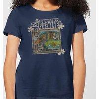 Scooby Doo Mystery Machine Psychedelic Women's T-Shirt - Navy - XL - Navy