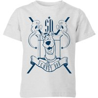 Scooby Doo Coat Of Arms Kids T-Shirt - Grey - 7-8 Years - Grey