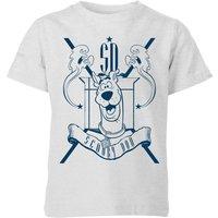 Scooby Doo Coat Of Arms Kids T-Shirt - Grey - 3-4 Years - Grey