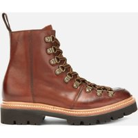 Grenson Women's Nanette Hand Painted Leather Hiking Style Boots - Tan - UK 7 - Tan