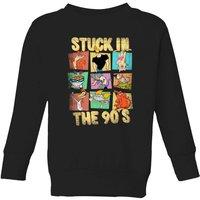 Cartoon Network Stuck In The 90s Kids' Sweatshirt - Black - 11-12 Years - Black