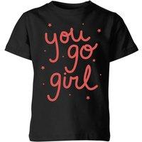 You Go Girl Kids' T-Shirt - Black - 5-6 Years - Black