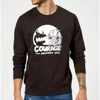 Courage The Cowardly Dog Spotlight Sweatshirt - Black - XXL - Black