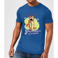 I Am Weasel Jumping Iguana On A Stick Men's T-Shirt - Royal Blue - XL - royal blue
