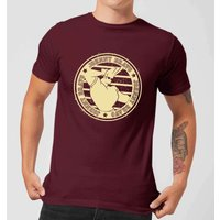 Johnny Bravo Sports Badge Mens T-Shirt - Burgundy - L - Burgundy