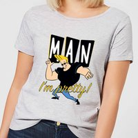 Johnny Bravo Man Im Pretty Womens T-Shirt - Grey - XL - Grey
