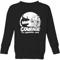Courage The Cowardly Dog Spotlight Kids' Sweatshirt - Black - 11-12 Years - Black