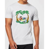 Disney Lilo And Stitch Play Some Music Men's T-Shirt - Grey - M - Grey - Music Gifts