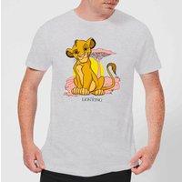 Disney Lion King Simba Pastel Men's T-Shirt - Grey - M - Grey