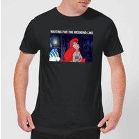 Disney The Little Mermaid Weekend Wait Men's T-Shirt - Black - S - Black