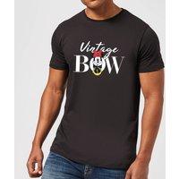 Disney Minnie Mouse Vintage Bow Men's T-Shirt - Black - XS - Black