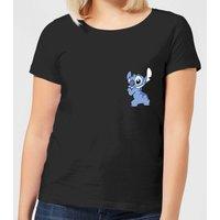 Disney Stitch Backside Women's T-Shirt - Black - XL