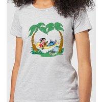 Disney Lilo And Stitch Play Some Music Women's T-Shirt - Grey - XXL - Grey - Music Gifts