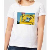 Disney Lilo And Stitch Life Guard Women's T-Shirt - White - M - White