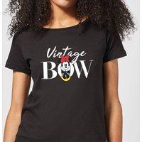 Disney Minnie Mouse Vintage Bow Women's T-Shirt - Black - S - Black